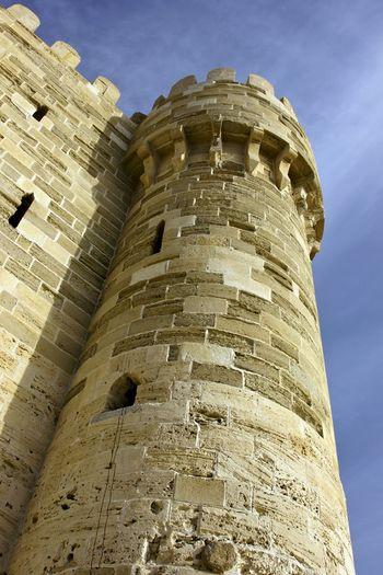 Castle Wall Sky Qitbay casstle , Alexandria Egypt
