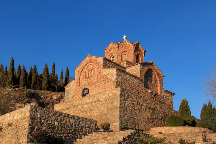 Low Angle View Of Church Of St John At Kaneo Against Clear Sky