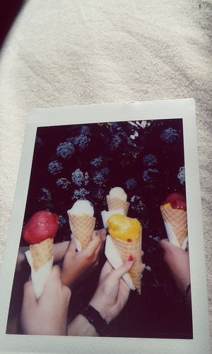Polaroid Summer Ice Cream Taking Photos Hi!