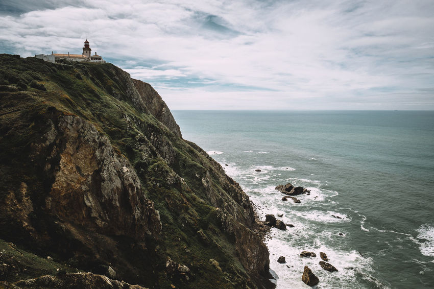 Atlantic Ocean Lighthouse Travel Travel Photography Adventure At The Edge Of Cliff Nature Ocean Outdoors Rock Scenics - Nature Sea Sky Water