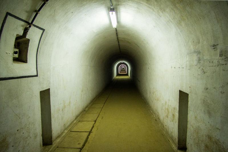 Fort Eben-Emael Fort Eben Emael Architecture Corridor Eben Emael Indoors  Light And Shadow Long No People Ww2