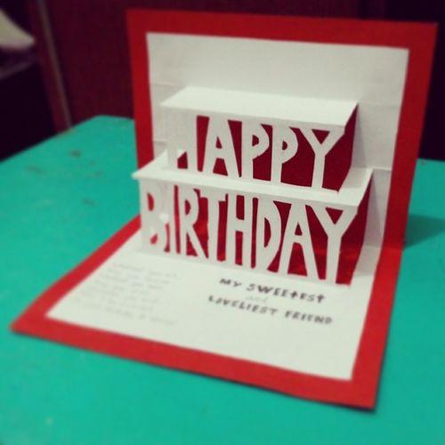 Popupcard Birthdaycard Birthday 3dcard