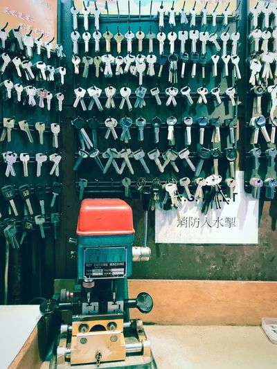 Key Cutting Machine Key Cutting ShotOnIphone HongKong Hong Kong Key Maker Keys Photography Keys Text Wall - Building Feature Communication No People Technology Day Indoors  Architecture Wall Creativity Built Structure Non-western Script Graffiti Number Script Sign Close-up Table Message