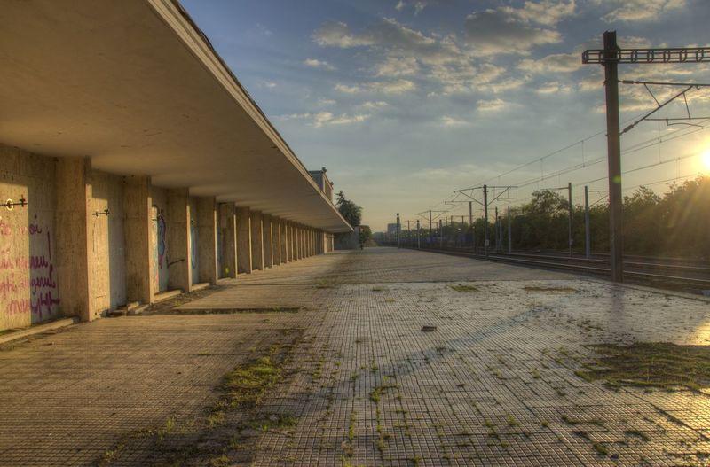 Abandoned Bucharest Day HDR LINE Rail Railway Romania Sky Sunset Train Train Station