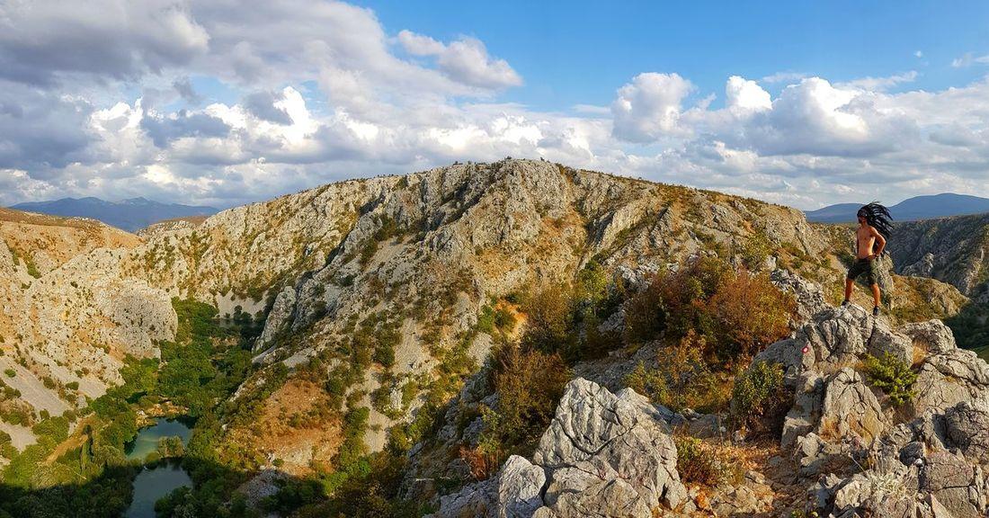 Winnetou overlooking Zrmanja and Krupa canyon during Zrmanja trail race 2017. Cloud - Sky Hiking Adventure Outdoors Beauty In Nature Zrmanja Krupa Winnetou Canyon EyeEmNewHere SamsungGalaxyS8 Trailrunning