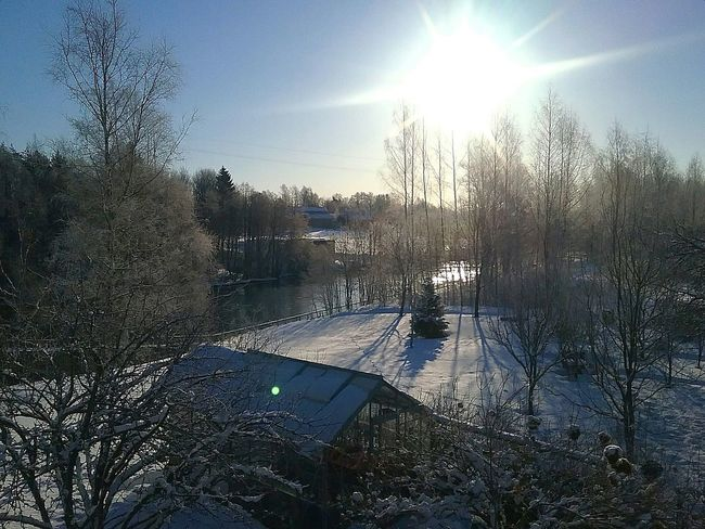 Scenery Snowy Landscape Frozy Sunny Morning Nature On Your Doorstep Minusdegrees ByTheRiver Springtime Greenhouse Balcony View River View Finland