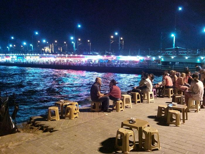 Karaköy Iskelesi Istanbul City Summer ☀ Night ✌