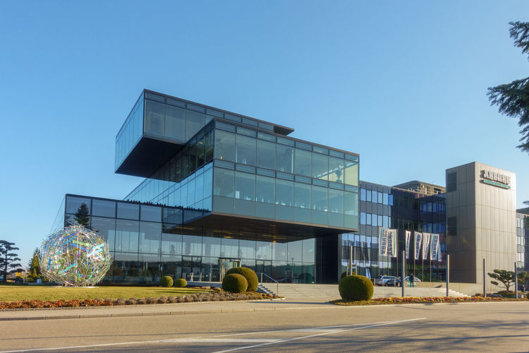 Main building of Arburg Headquarters in Loßburg Arburg Architecture Building Exterior Built Structure Clear Sky Day Germany Headquarters Injection Molding Machine Lossburg Lossburg Modern No People Office Building Office Building Exterior Outdoors Plastic Sky Technology Technology Days