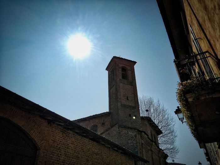 San Colombano al Lambro, Marzo 2019 Hdr_Collection Outdoors Town Low Angle View Sky Sun Architecture Building Exterior Built Structure