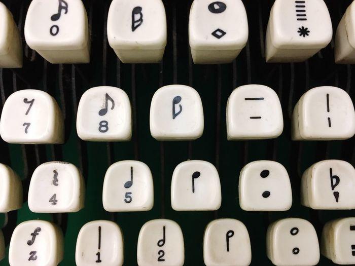 Directly above shot of typewriter