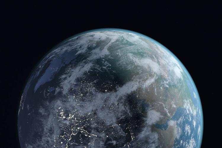 Close-up of blue sky at night