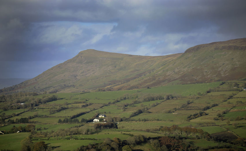 Benbradagh Mountain Agriculture Beauty In Nature Cloud - Sky Day Green Color Landscape Mountain Nature No People Outdoors Scenics Sky Tranquil Scene