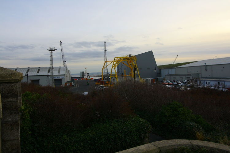 OUT AND ABOUT IN HARTLEPOOL Sky Architecture Built Structure Building Exterior Cloud - Sky Nature Sunset Plant Building No People Growth Industry Outdoors Day Grass Factory City Crane - Construction Machinery House Field