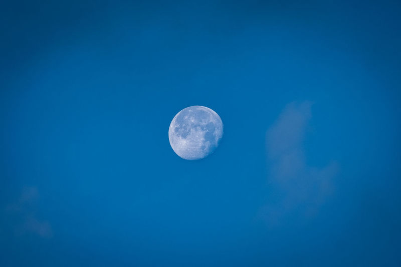 Moon Sky Space Astronomy Blue Beauty In Nature Night Tranquility Planetary Moon Scenics - Nature Low Angle View Tranquil Scene Nature No People Full Moon Clear Sky Outdoors Copy Space Geometric Shape Astrology Moonlight Space And Astronomy Meili Snow Mountain DeQin Yunnan China Tibet Top High Fog Cool Cold