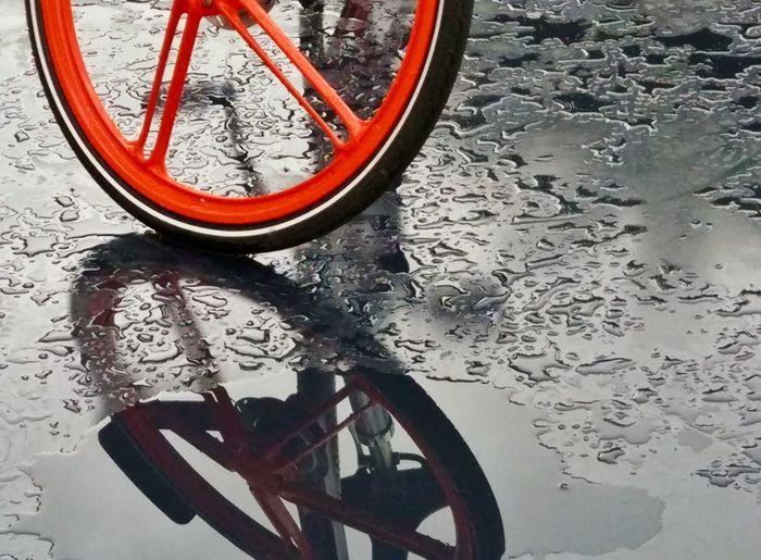 雨中单车 No People Land Vehicle Close-up Transportation Mode Of Transport Day Stationary Outdoors Water