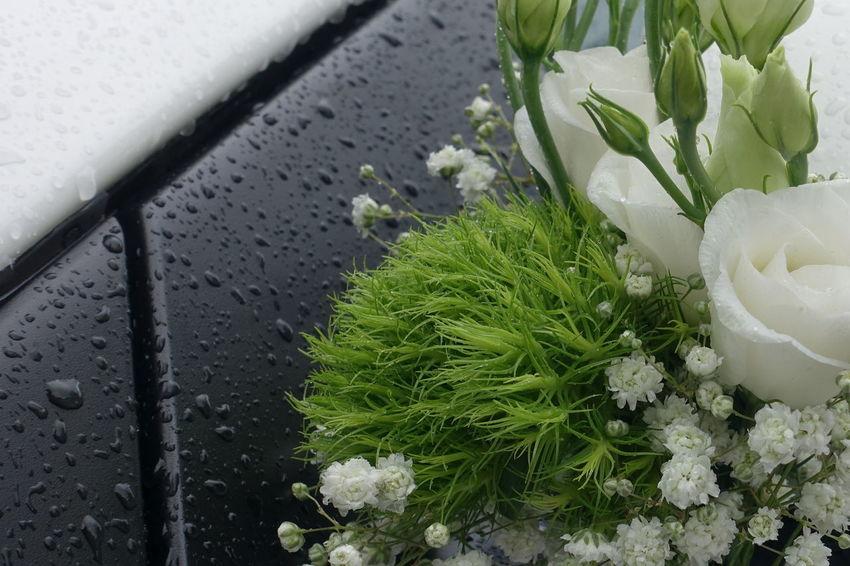 Brautstrauss Regen Hochzeit♥ Blumenstrauß Fest Glück
