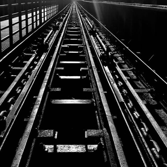Away Transportation Railroad Track Rail Transportation No People Public Transportation The Way Forward Night EyeEmNewHere
