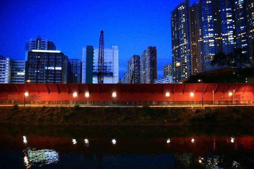 Illuminated Night Architecture City Urban Exploration Discoverhongkong Tadaa Community Architecture HongKong Fotan Village Fotan No People