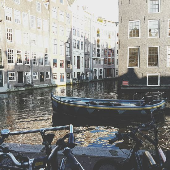 Amsterdam Travelling Travel NOthIng High River Boat Bycicle Beautiful Landscape Peaople Great Atmosphere Good Remember