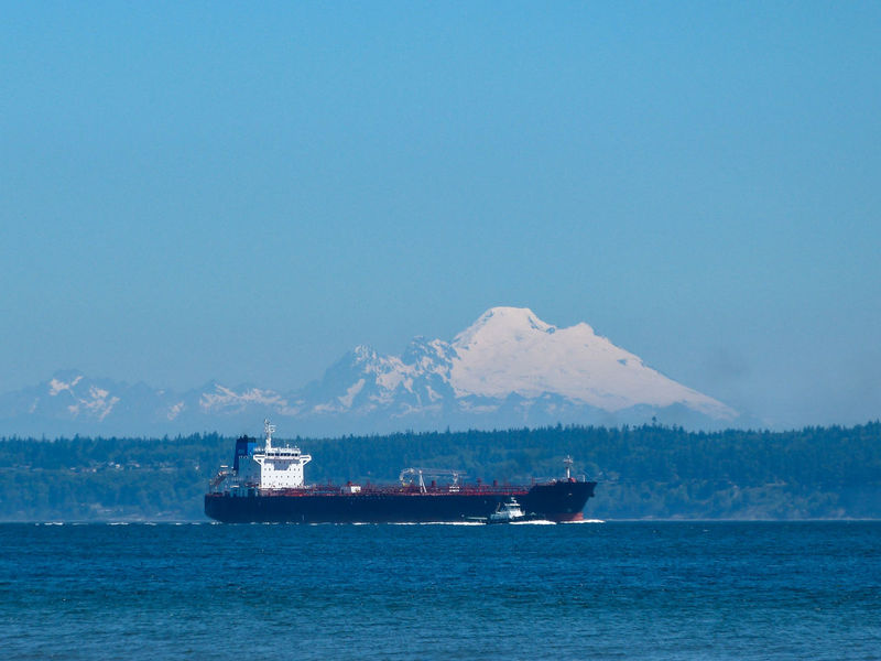 Beauty In Nature Blue Boat Cascade Mountains Day Freighter Mode Of Transport Mountain Mountain Range Mt. Baker Nautical Vessel Outdoors Puget Sound Scenics Sea Ship Sky Tugboat Water Showcase June