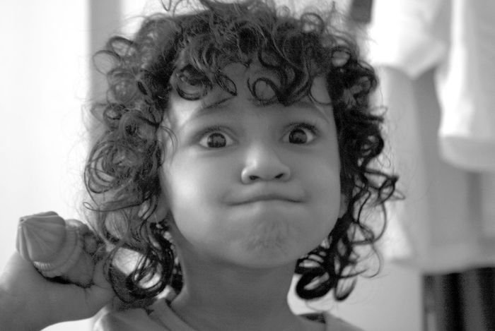 Blackandwhite Character Curly Hair Eye Girl #me #eyes #lips Hanuman Indian Mythology Innocence Mischievous Naugty EyeEmNewHere