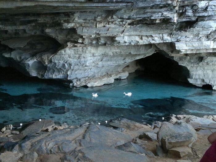 #ballislife #chapada Diamantina #Gruta Azul Beauty In Nature Cave Day Geology Indoors  Limestone Nature No People Rock - Object Stalactite  Textured  Water