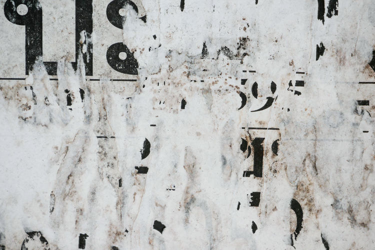 Text Built Structure Full Frame Architecture Wall - Building Feature Communication No People Weathered Western Script Old Backgrounds Day Damaged Close-up Outdoors Wall Number Deterioration Building Exterior Textured  Ruined