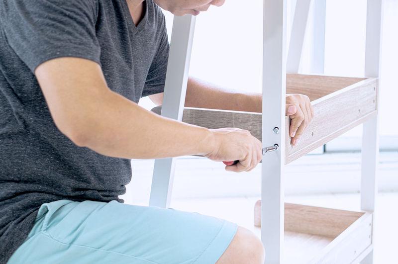 Man assembling