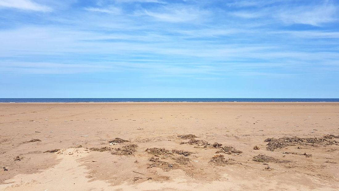 Sand Beach Sea Landscape Nature Sky Scenics Outdoors Blue Day Cloud - Sky Beauty In Nature Sand Dune Horizon Over Water No People Tranquil Scene Summer Norfolk Holkham Beach Holkham Sun Outdoor Pursuit Tranquility Water Beauty In Nature