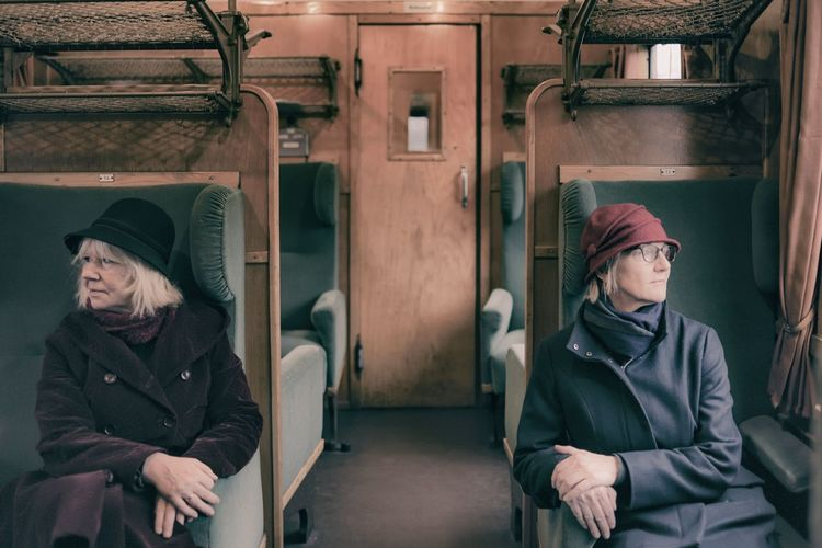 Women Sitting In Train