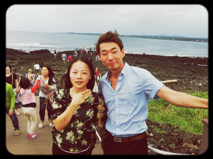 Our kind & handsome tour guide, it's hard to say good-bye, wish u & your fiancee be happy all life, thank u for ur accompaniment~ Leaving Heartbeat Moments Back Home I Love U S.K. & PJL o(^_-)O