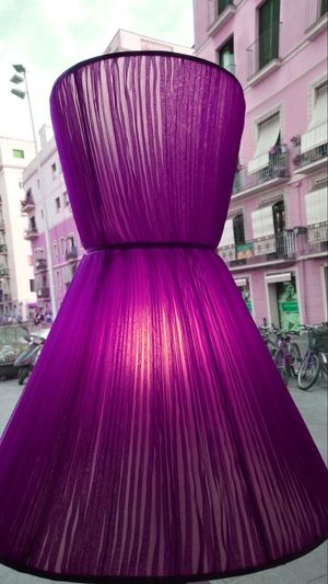 Lamp Design Looks Like A Women's Dress Architecture Built Structure Building Exterior No People City Day Outdoors Close-up