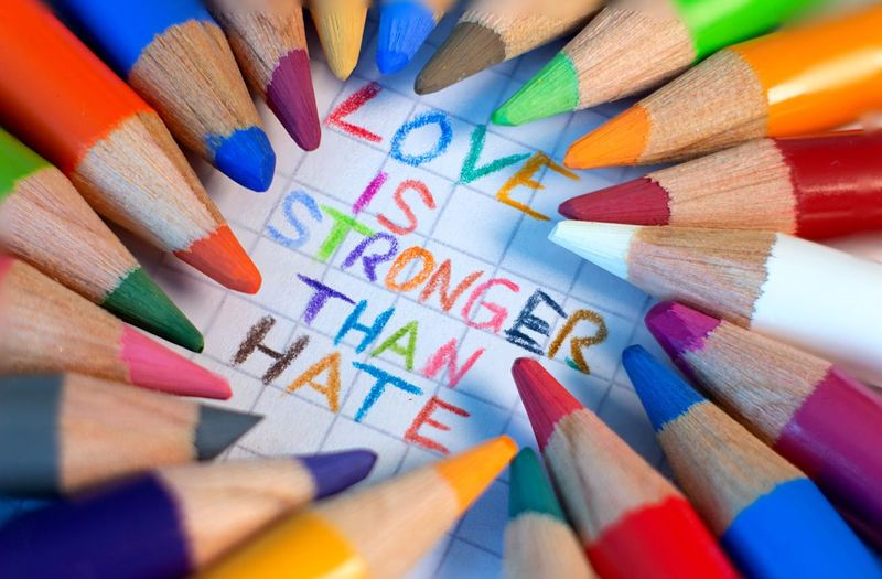 Love is stronger than hate ❤️ Storytelling Heartwarming ❤ Love Is Stronger Than Hate Focus Stacking Graphic Macro Photography Nohate Weareallhuman Racism Norasism Message To The World Message Macro Colorful Loveisstrong LoveIsStrongerThanHate Multi Colored Pencil Writing Instrument Colored Pencil Art And Craft Large Group Of Objects Still Life Creativity Close-up Education Art And Craft Equipment High Angle View Crayon EyeEmNewHere EyeEmNewHere Visual Creativity EyeEmNewHere #FREIHEITBERLIN The Creative - 2018 EyeEm Awards Be Brave
