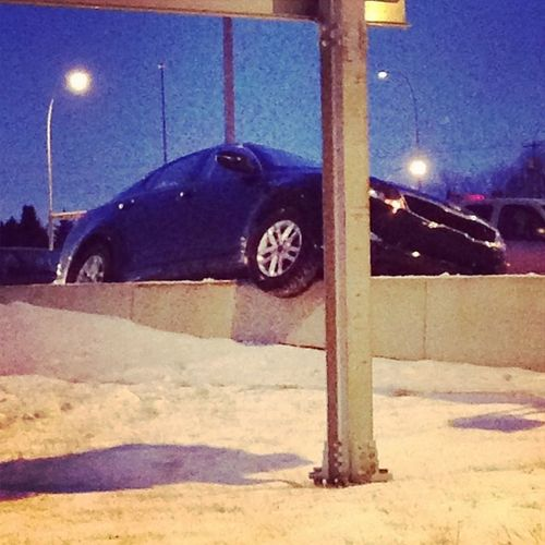 Only in Calgary Alberta after a snow storm and minus 25 weather. How the hell does this happen?