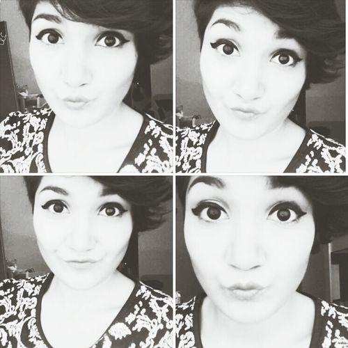 Girls Makeup Eyes Blackandwhite