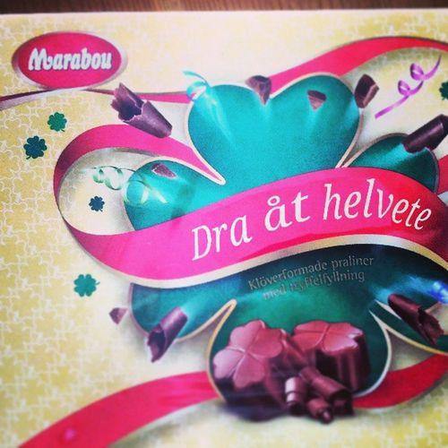 Mmmm. Marabou... Dom har då choklad för alla tillfällen! Choklad Marabou Dra  åt helvete