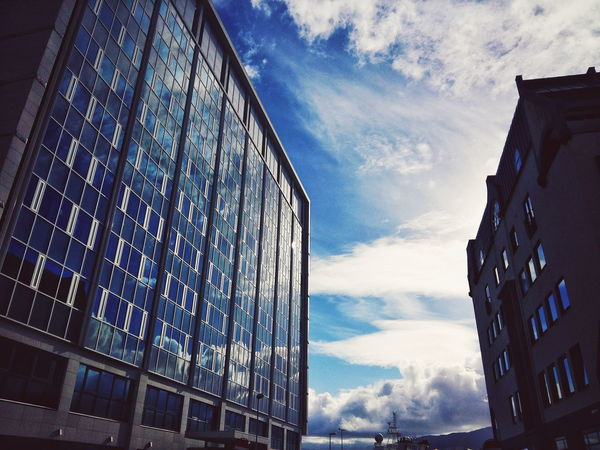 Architecture Building Exterior Built Structure City Cloud - Sky Day Discover Your City EyeEm Low Angle View Modern No People Norway Outdoors Samsungphotography Sky Skyscraper The Week Of Eyeem Travel Travel Destinations Urban Skyline