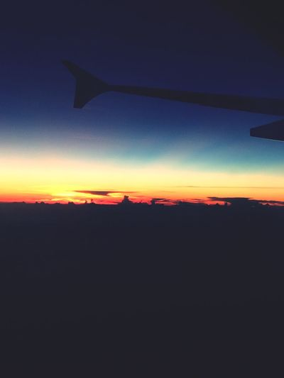From An Airplane Window Sunrise Hello World Check This Out
