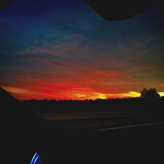 From the car Sunset Clouds AllColorsAreBeautyful Allcolors Red Yellow Blue