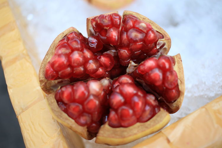 Close-Up Of Fresh Peeled Pomegranate