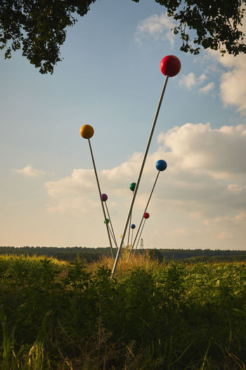 Needles sculpture in nature Natur Skuptur Beauty In Nature Cloud - Sky Day Environment Field Grass Green Color Growth Land Landscape Nature Nature Sculpture Needles No People Outdoors Plant Scenics - Nature Sculpture Sky Tranquil Scene Tranquility Tree