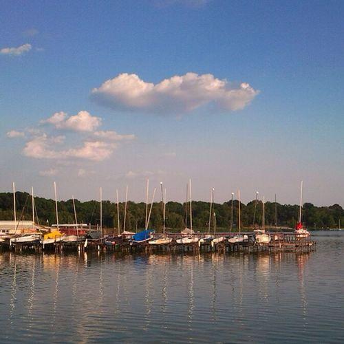 Sunny day at White Rock Lake. White Rock Lake