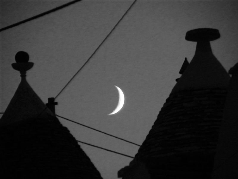 Alberobello Alberobello - Puglia Alberobello City Alberobellocity Alberobelloexperience Alberobellophotocontest Architecture Building Exterior Crescent Low Angle View Moon Nature Night No People Outdoors Silhouette Sky Break The Mold Art Is Everywhere TCPM The Architect - 2017 EyeEm Awards