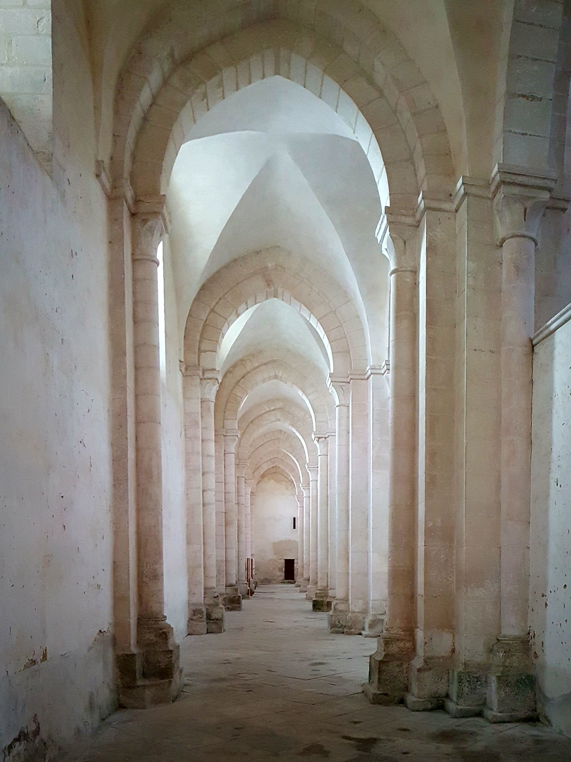 arch, architecture, in a row, corridor, the way forward, architectural column, indoors, built structure, history, day, no people