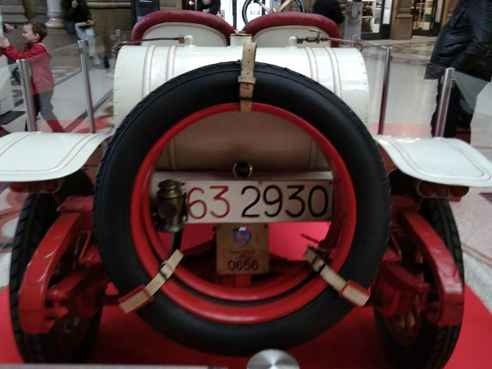 Red Car History Car History Machine Old Car History Grand Prix Lancia Epsilon Corsa 1912 Red Circle Close-up