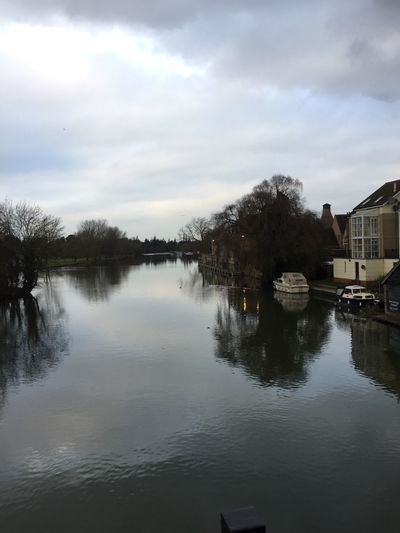 River Great Ouse, view from St. Neots bridge. River View Motus Natura Bare Tree Nature Outdoors Tree Beauty In Nature Winter Water River Boats