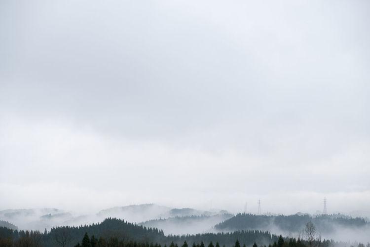 Quiet morning before the earthquake Cloud - Sky EyeEm Nature Lover Foggy Morning Horizon Over Land Japan Kumamoto Landscape_photography Mountain