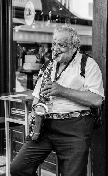 Senior Man Playing Saxophone