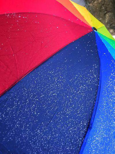 Umbrella Rainbow Umbrella Multi Colored Close-up Full Frame No People