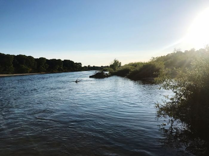 La Loire au coucher de soleil Water Beauty In Nature Photography Nature Water